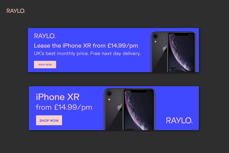 Raylo web banner design